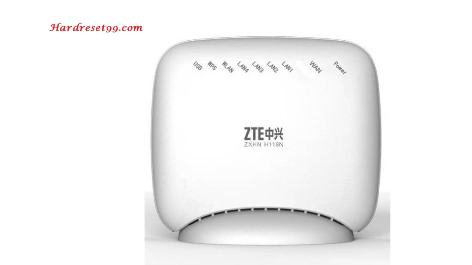 ZTE ZXHN H108L Router - How to Reset to Factory Settings