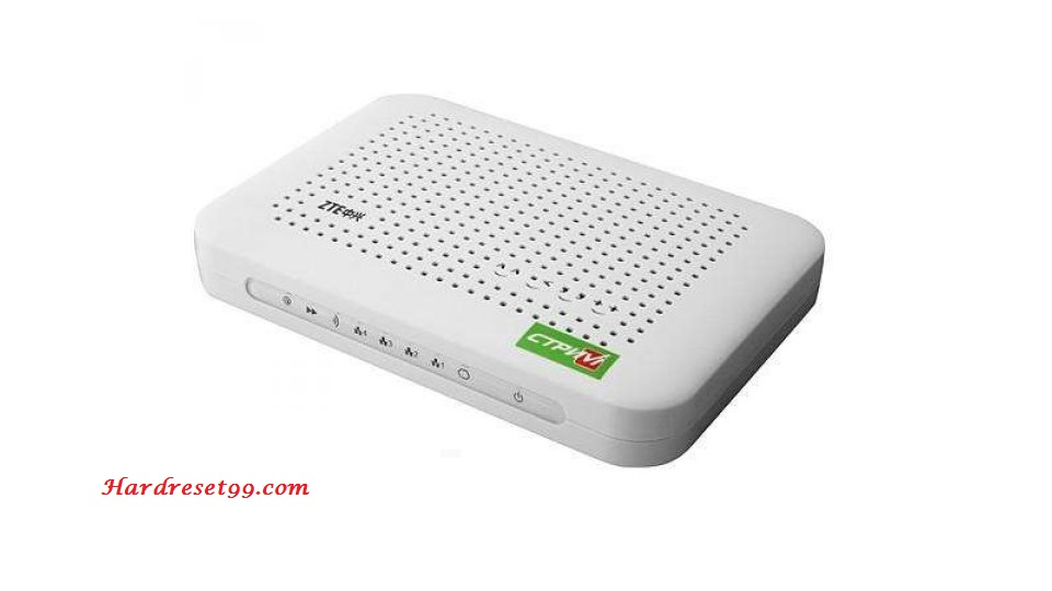 ZTE ZXV10-W300v5 Router - How to Reset to Factory Settings