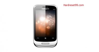Karbonn KT83 Silver Touch Hard Reset