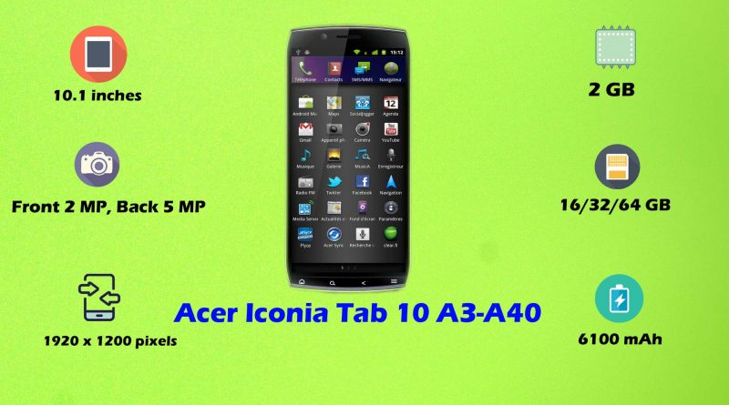 acer iconia tab 10 a3 a40 price all specifications features. Black Bedroom Furniture Sets. Home Design Ideas