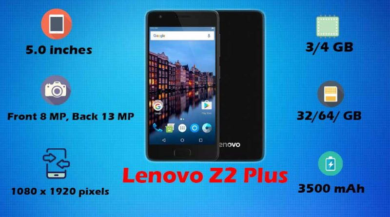 Lenovo Z2 Plus Price, All Specifications, Features