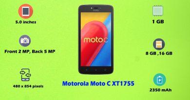 How to Hard Reset Motorola Moto C XT1755 - Remove Pattern Lock