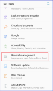 samsung galaxy Note 9 settings General